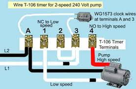 how to wire t106 timer t 106 timer 2 speed 240volt pump