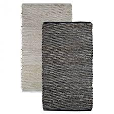 the woven cotton and jute floor rug moku living australia