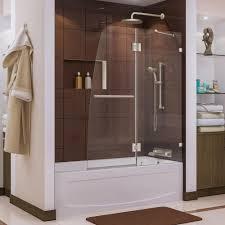 frameless pivot tub shower door