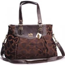 Coach Madeline East West Large Coffee Satchels BXN