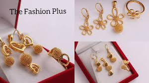 Design Of Ear Ring Latest Combo Sets Of Gold Pendant Earring Ring Designs