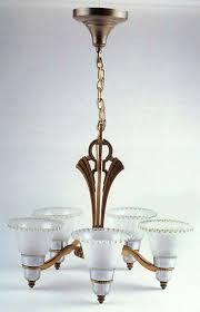 5 arm chandelier w 5 frosted shades candlewick clear stem 3400 by imperial glass ohio