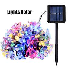 Compre 50 <b>LEDS</b> 7M Melocotón Lámpara Solar Ledertek Flower ...