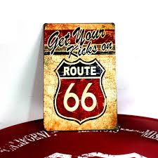 China <b>Vintage Metal Tin Sign</b> Bar Pub Signs Route66 Home Decor ...