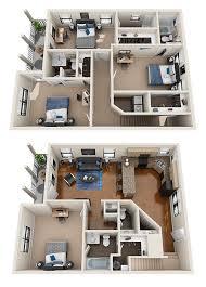 2 3 and 4 bedrooms 3d floor plans