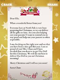 letter to write to santa north pole on the app