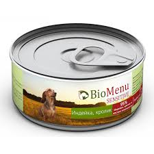 <b>BioMenu SENSITIVE Консервы</b> д/собак <b>Индейка</b>/Кролик 95 ...