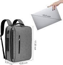 Buy SLOTRA Convertible Backpack 15.6 Laptop Bag 3 in 1 Carry On Backpack  Briefcase Messenger Shoulder Bag With Removable Strap Grey Online in  Indonesia. B07PJ84BWL