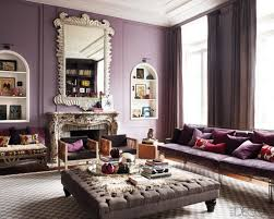 purple living room furniture. Modeern Living Room With Violet Wall Paint Big Mirror Purple Sofa Window And Curtain Image Furniture E