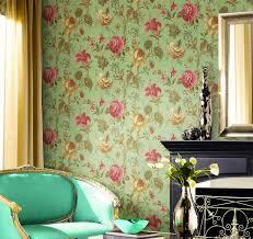 flower wallpaper for house. flower wallpaper and retro dresser for bedroom house w
