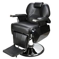 BX-2687A Large Classic Hair Salon Iron Leather Sponge Barber Chair Black