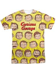 closeoutzone curious george faces sublimated t shirt officially licensed com