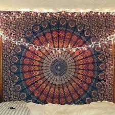 flower indian mandala tapestry wall hanging hippie throw bedspread