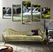 Waterfall Home Decor Online Get Cheap Waterfall Oil Paintings Aliexpresscom Alibaba