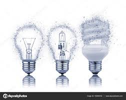 What Are The Kinds Of Light Three Kinds Of Light Bulbs With Reflection Stock Photo