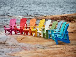 recycled plastic adirondack chairs. Recycled Plastic Adirondack Chairs On Rock E