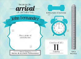 birth announcement templates birth announcement template 23 psd ai eps format download