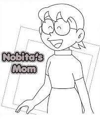 Disegni Da Colorare Gratis Mamma Di Nobita Per Bambini Disegni Da