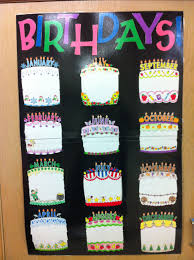 Card Birthday Chart Birthday Chart Take Pictures Of The Students Holding
