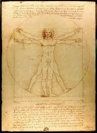 renaissance humanism  leonardo da vinci s vitruvian man c 1490 shows the correlations of ideal human body proportions geometry described by the ancient r architect