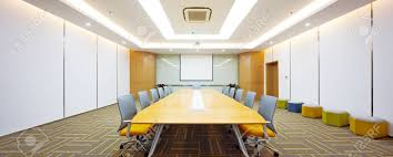 Decoration And Design Building Cool Decoration And Design Of Modern Meeting Room In Modern Company Stock