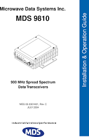 How To Fix Us Ds Blinking Light Spectrum Ds 9810 Spread Spectrum Data Tranceiver User Manual Manual