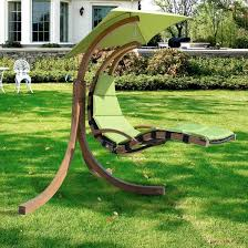 comfortable brown wooden outdoor swing chair with stand hanging sky w designs hammock canopy garden fabric pod seater seat suspended egg furniture lounge