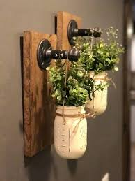 industrial wall sconce mason jar wall