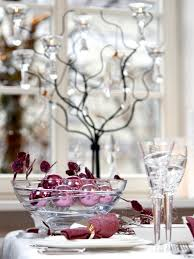 table decorations for christmas. christmas-table-decorations-transparent-glass-purple-ornaments table decorations for christmas