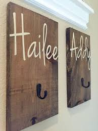 kids bathroom decor signs. Contemporary Decor Personalized Name Hook Christmas Present Towel By RedRoanSigns Throughout Kids Bathroom Decor Signs R