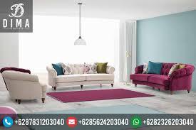 modern shabby chic furniture. Mebel Jepara Terbaru Set Sofa Tamu Minimalis Modern Shabby Chic DF-0070 Furniture N