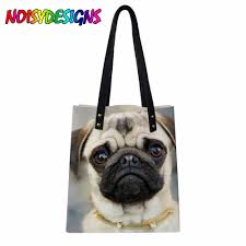 French Designer Tote Bags Us 14 4 40 Off Women Luxury Brand Designer Pu French Bulldog Party Pattern Handbags Woman Tote Bags Mujer Shoulder Bags Student Schoolbag On