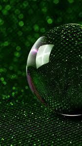 Sphere, 3d, Glass Ball, Green Glitter ...