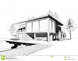 modern home architecture sketches. Beautiful Modern Excellent Modern Home Architecture Sketches On Design With Vector  Black And White Sketch Of In