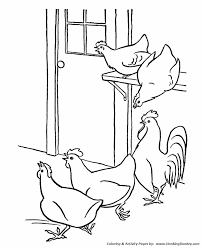 Small Picture Farm Animal Coloring Pages Printable Chickens Coloring Page Hens