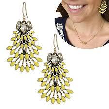 stella and dot norah chandeliers earrings