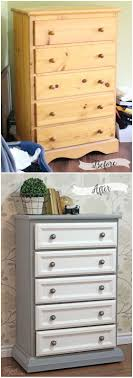 tall dresser makeover with trim and paint