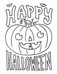 Small Picture Happy Halloween Coloring Pages Getcoloringpages inside Happy