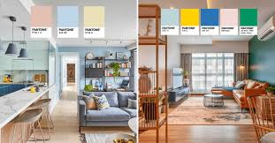 Room Design Colour Schemes 4 Hdb Bto Interior Design Ideas With Beautiful Pantone