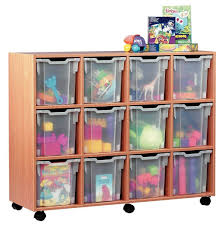 toys storage furniture. Modern Minimalist Wooden Kids Storage Furniture With Roller And Eight Plastic Transparent Boxes For Storing Toys W