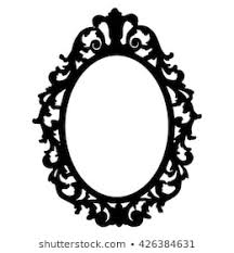 Image Old Fashioned Vintage Frame Silhouette On White Background Shutterstock Mirror Frame Images Stock Photos Vectors Shutterstock