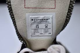 Chucks Converse Size Chart Converse With Zipper On Side Chuck Taylor Ii Size Chart
