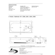 bathtub drain measurements
