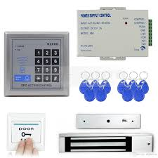 door access control security system kit 280kg electric magnetic lock diy full complete 125khz rfid card reader k2000 access control with