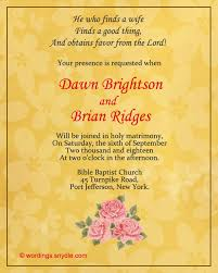 Engagement Invitation Format Awesome Christian Wedding Invitation Wording Samples Wordings And Messages