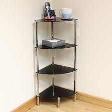 corner side end table shelf display unit img with shelves chrome frame sentinel lounge bathroom rustic leaning ladder adjule wall mounted shelving