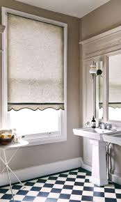 blinds for bathrooms. Use Pattern To Lift An Interior Of A Neutrally Decorated Room, Mix Floral And Geometric Blinds For Bathrooms R
