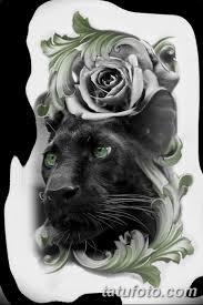 черно белый эскиз тату с черной пантерой 11032019 004 Tattoo