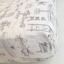aircraft blueprints crib sheet baby boy bedding changing pad cover vintage plane baby bedding minky blanket charcoal