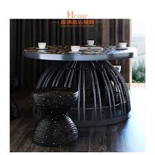 black wooden leg round marble dining table for hotel restaurant cafe pictures photos